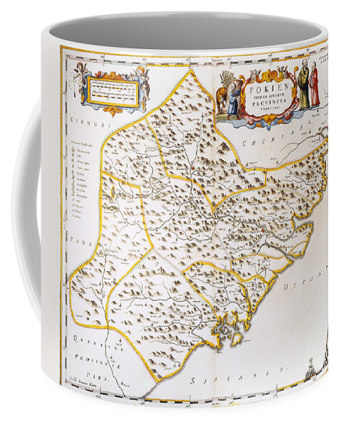 1662 Coffee Mug featuring the photograph China: Fujian Map, 1662 by Granger