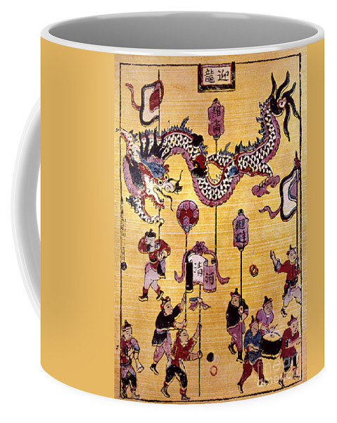 Aodng Coffee Mug featuring the photograph China: New Year Card by Granger