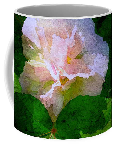 China Rose Coffee Mug featuring the digital art China Rose by James Temple