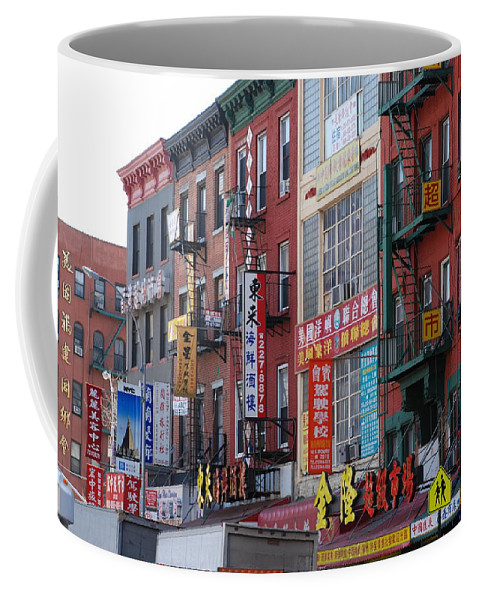 Architecture Coffee Mug featuring the photograph China Town Buildings by Rob Hans