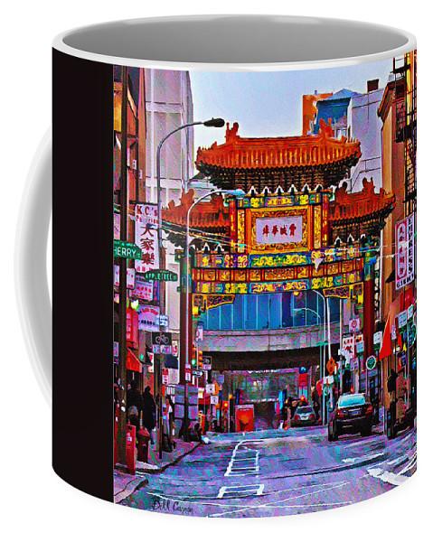 Chinatown Arch Philadelphia Coffee Mug featuring the photograph Chinatown Arch Philadelphia by Bill Cannon