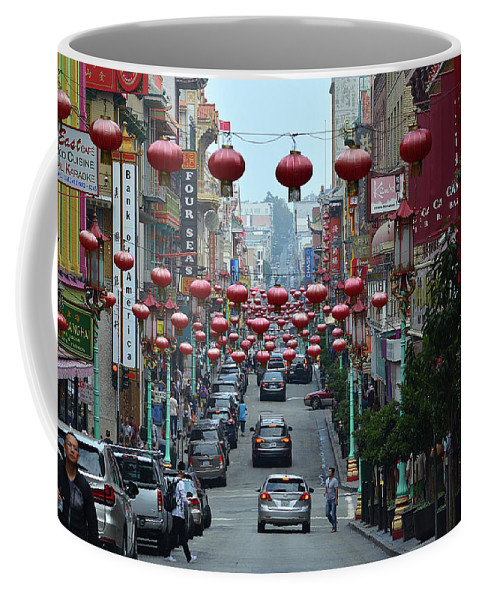 Chinatown Coffee Mug featuring the photograph Chinatown, San Francisco by Todd Bartush