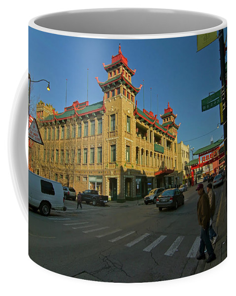 Chinatown Coffee Mug featuring the photograph Chinatown Scene by Sven Brogren