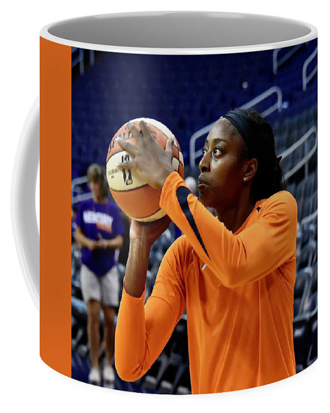 Chine Ogwumike Coffee Mug featuring the photograph Chine Ogwumike by Devin Millington