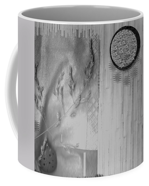 Straw Coffee Mug featuring the mixed media Chinese Garden by Pepita Selles