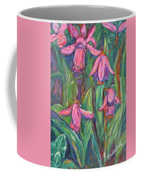 Floral Coffee Mug featuring the painting Chinese Orchids by Kendall Kessler
