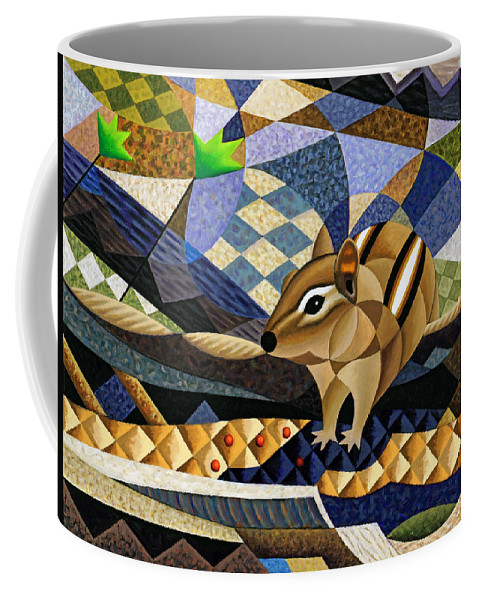 Bruce Bodden Coffee Mug featuring the painting Chipmunk At Heckrodt by Bruce Bodden