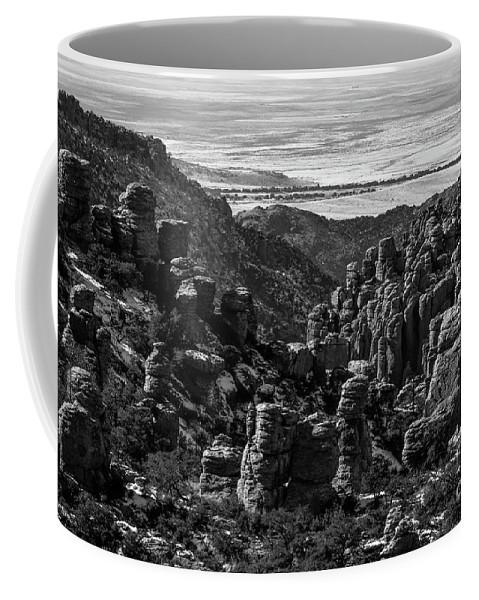 Chiricahua Mountains Coffee Mug featuring the photograph Chiricahua Hoodoo Vista by Charles Norkoli