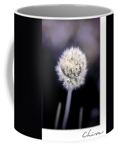 Chive Coffee Mug featuring the photograph Chive by Holly Kempe