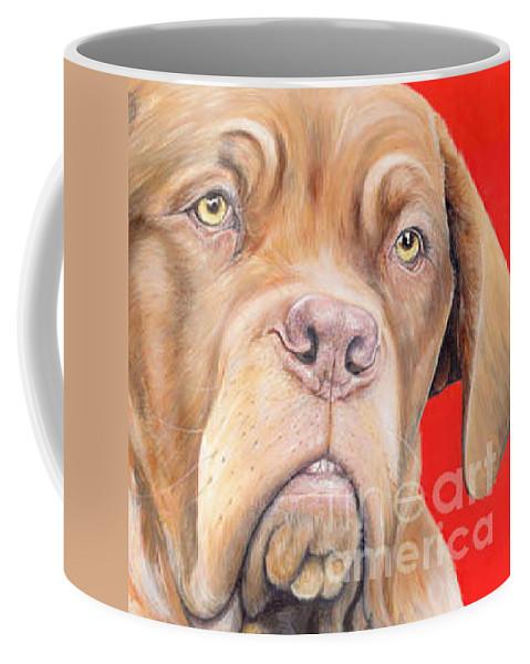 Dogs De Bordeaux Coffee Mug featuring the painting Chloe by Keran Sunaski Gilmore