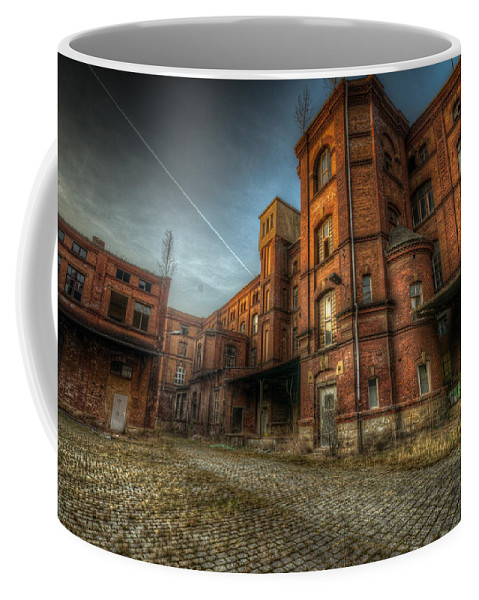 Urebx Coffee Mug featuring the digital art Chocolate Factory by Nathan Wright