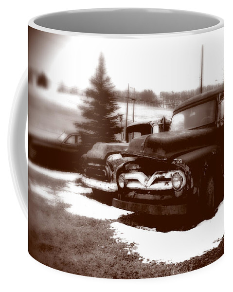 Old Cars Coffee Mug featuring the photograph Chocolate Ghosts by Jean Macaluso