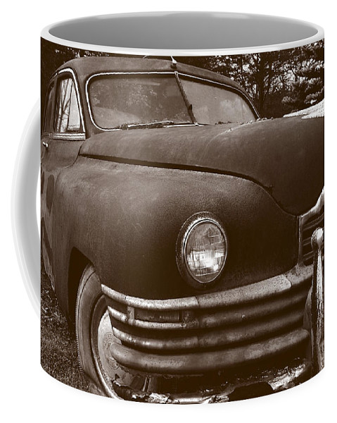 Old Car Coffee Mug featuring the photograph Chocolate Moose by Jean Macaluso