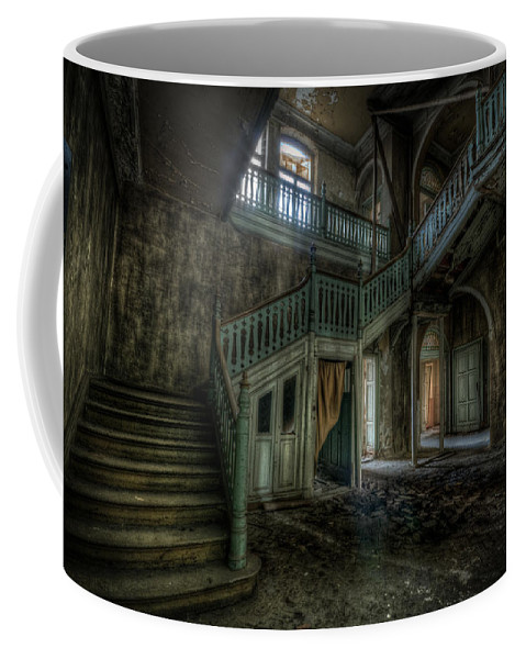 Beautiful Coffee Mug featuring the digital art Chocolate Villa Hallway by Nathan Wright