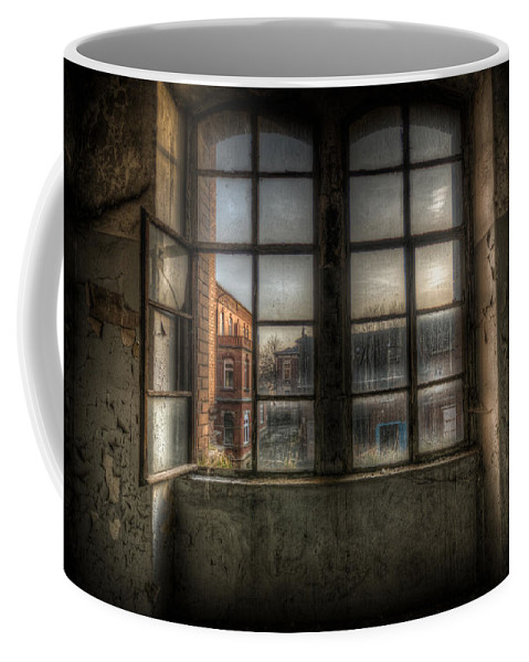 Urebx Coffee Mug featuring the digital art Chocolate Window by Nathan Wright