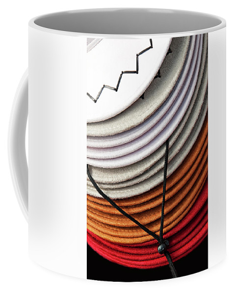 Hat Coffee Mug featuring the photograph Choices - Western Hat Pileup by Mitch Spence