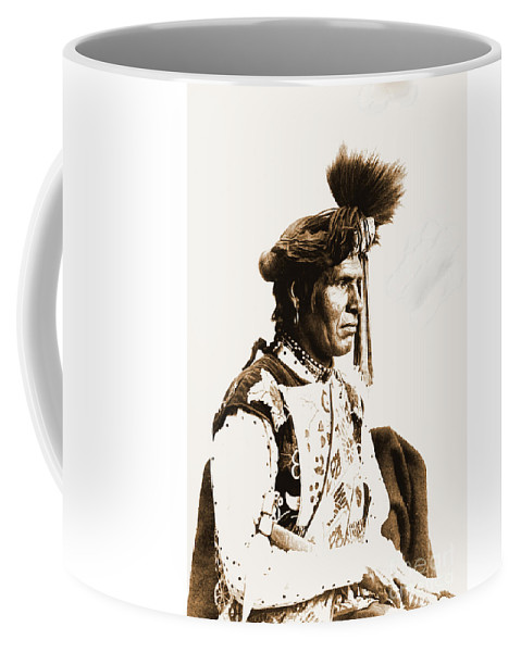 Native Coffee Mug featuring the photograph Chopped Up Who Came From A Distance by Gary Wonning