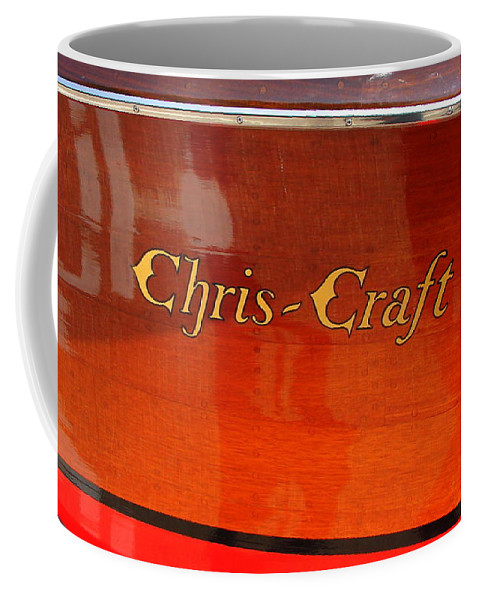 Logo Coffee Mug featuring the photograph Chris Craft Logo by Michelle Calkins