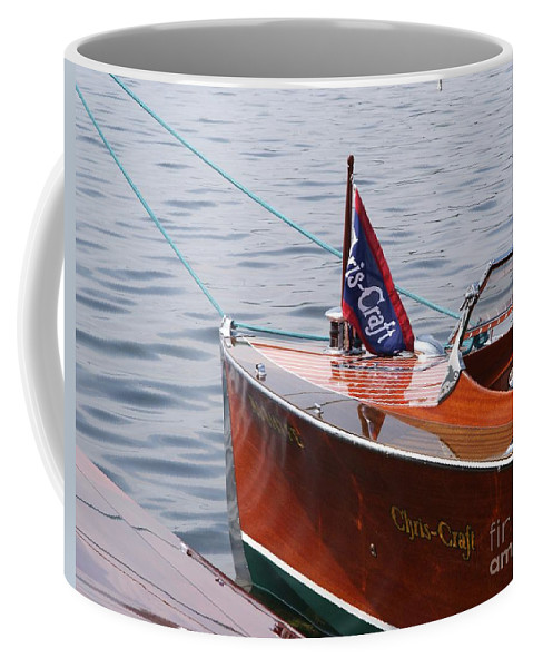 Chris Craft Coffee Mug featuring the photograph Chris Craft Runabout by Neil Zimmerman