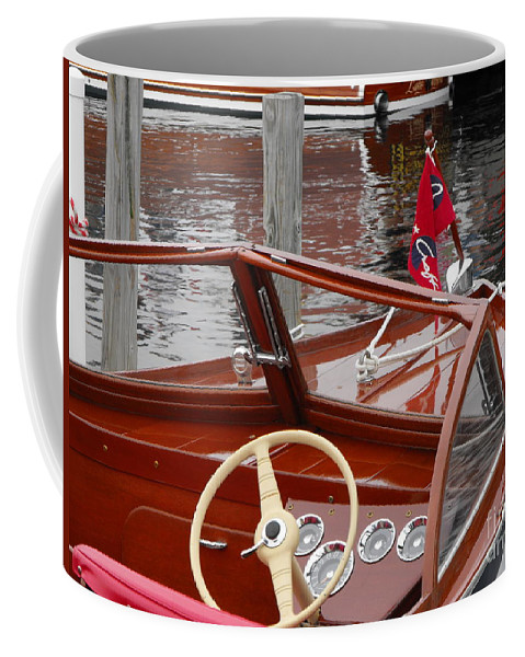 Wooden Boat Coffee Mug featuring the photograph Chris Craft Sea Skiff by Neil Zimmerman