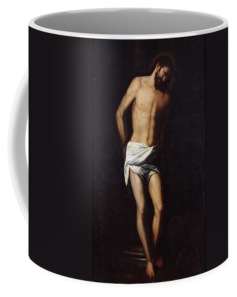 Jesus Coffee Mug featuring the painting Christ Bound To The Column by Alonso Cano