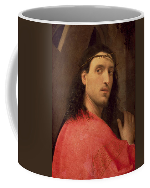 Christ Coffee Mug featuring the painting Christ Carrying The Cross by Italian School