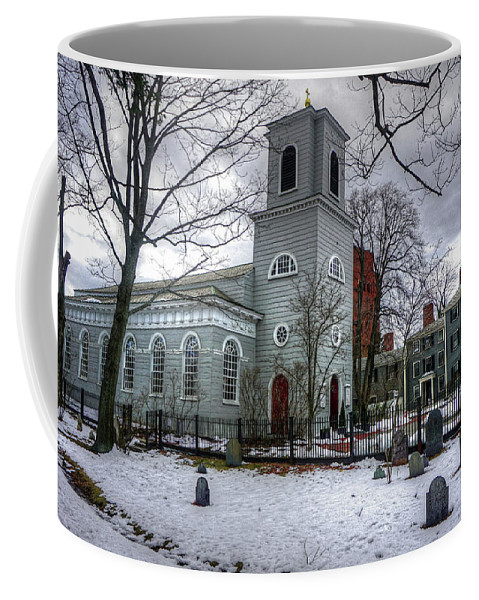 George Martha Washington New Years Eve 1775 Theodore Roosevelt Sunday School Harvard Martin Luther King There Comes A Time When Silence Is Betrayal. Coffee Mug featuring the photograph Christ Church In Cambridge by Wayne Marshall Chase