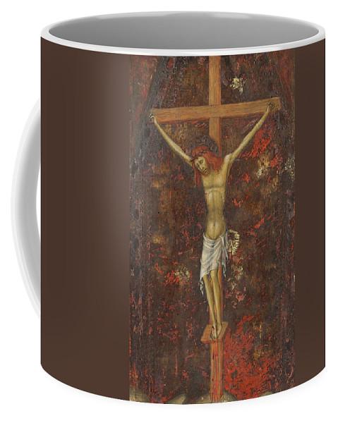 Andrea Di Bartolo Coffee Mug featuring the painting Christ On The Cross by Andrea di Bartolo