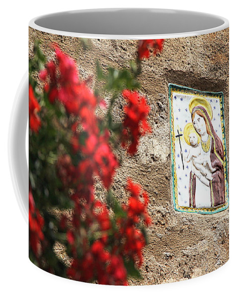 Christian Coffee Mug featuring the photograph Christian Plaque by Valentino Visentini