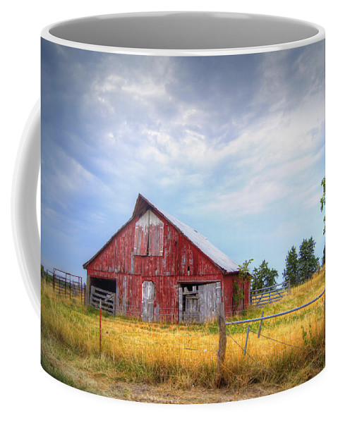 Barn Coffee Mug featuring the photograph Christian School Road Barn by Cricket Hackmann