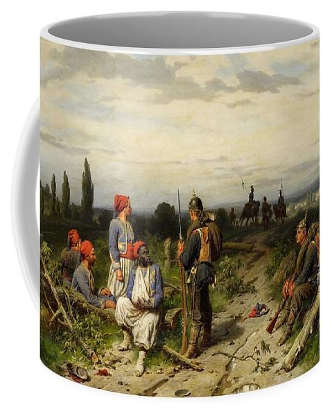 Christian Sell Coffee Mug featuring the digital art Christian Sell by Mark Carlson