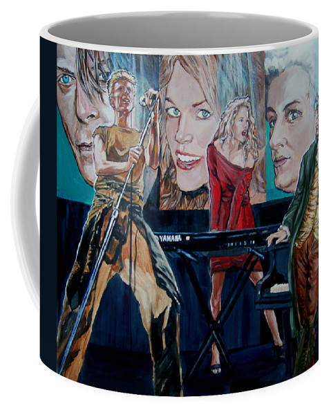 Christine Anderson Coffee Mug featuring the painting Christine Anderson Concert Fantasy by Bryan Bustard