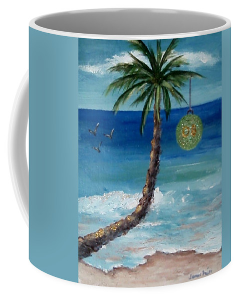 Christmas Coffee Mug featuring the painting Christmas 2008 by Jamie Frier