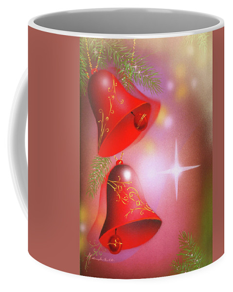 Nativity Coffee Mug featuring the painting Christmas Bells by Laura Greco