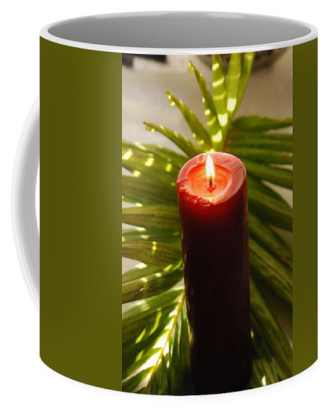 Candle Coffee Mug featuring the photograph Christmas Candle 2 by Susanne Van Hulst