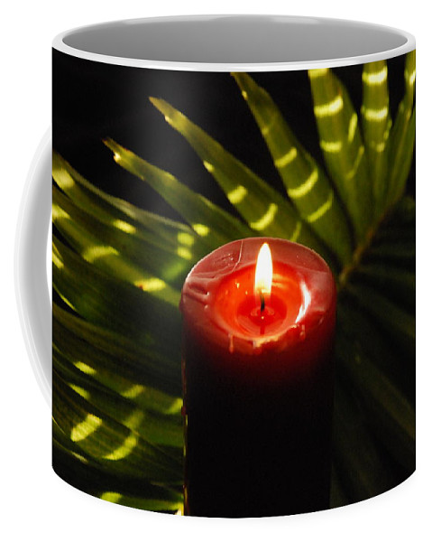 Candle Coffee Mug featuring the photograph Christmas Candle by Susanne Van Hulst