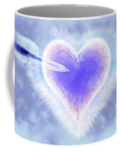 Christmas Coffee Mug featuring the digital art Christmas Card Lover 2015 by Annissa Wood