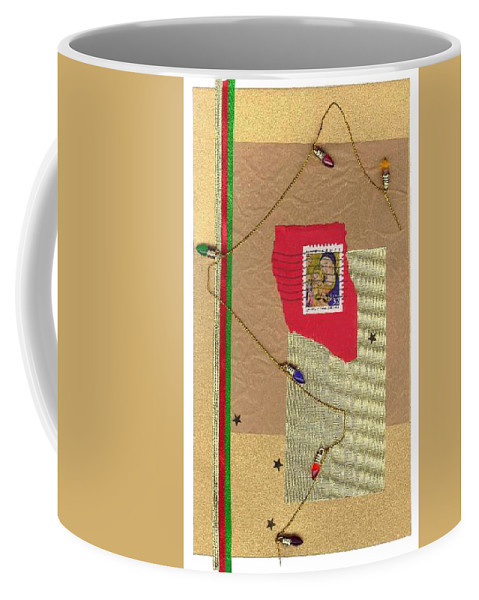 Christmas Coffee Mug featuring the mixed media Christmas Card by Steve Karol