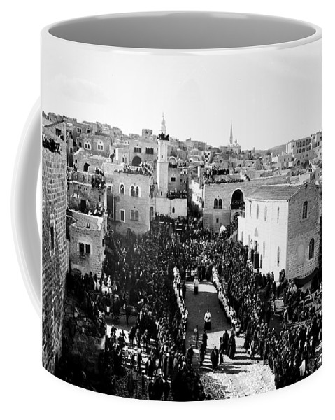 Christmas Coffee Mug featuring the photograph Christmas Celebration In 1901s by Munir Alawi