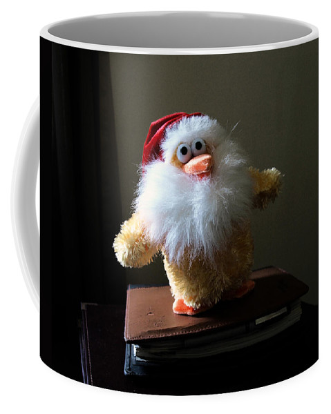 Chicken; Leftover; Appeal; Mercy; Bird; Fowl; Meal; Eat; Food; Pathos; Stuffed; Animal; Plead; Compa Coffee Mug featuring the photograph Christmas Chicken by Allan Hughes