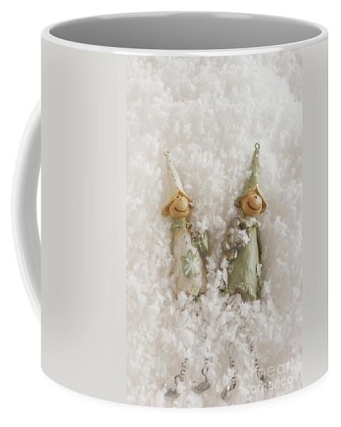 Christmas Elves Coffee Mug featuring the photograph Christmas Elves by Ann Garrett