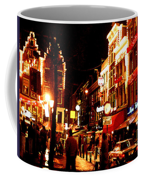 Night Coffee Mug featuring the photograph Christmas In Amsterdam by Nancy Mueller