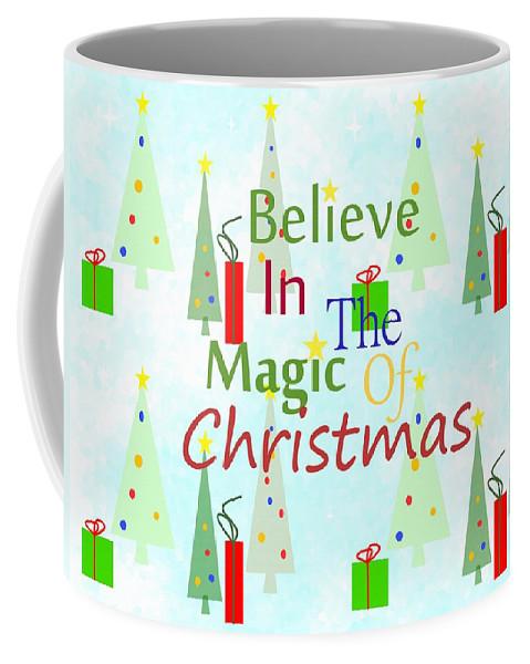 Christmas Art Coffee Mug featuring the mixed media Christmas Magic by Kathleen Sartoris