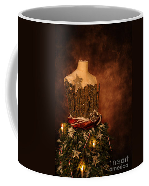 Christmas Coffee Mug featuring the photograph Christmas Mannequin by Amanda Elwell