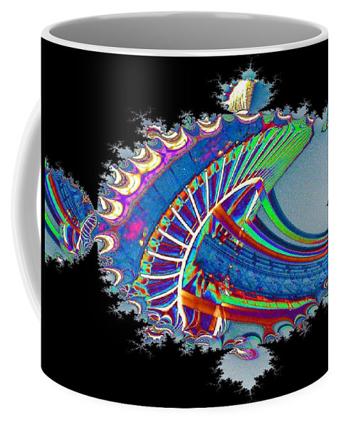 Seattle Coffee Mug featuring the digital art Christmas Needle In Fractal by Tim Allen