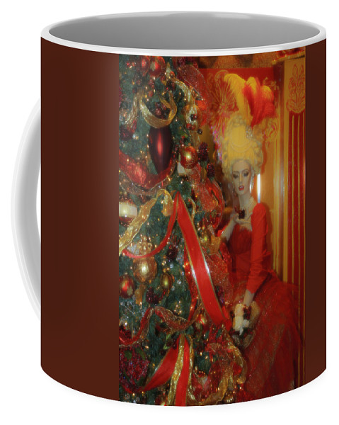 Christmas Coffee Mug featuring the photograph Christmas Parlor Fashions For Evergreens Event Hotel Roanoke 2009 by Teresa Mucha