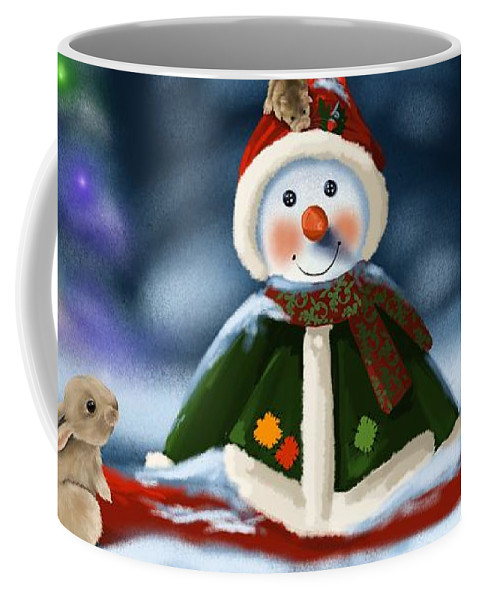 Christmas Coffee Mug featuring the painting Christmas Party by Veronica Minozzi