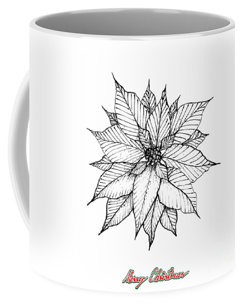 Christmas Poinsettia Or Euphorbia Pulcherrima Flower Coffee Mug For Sale By Iam Nee