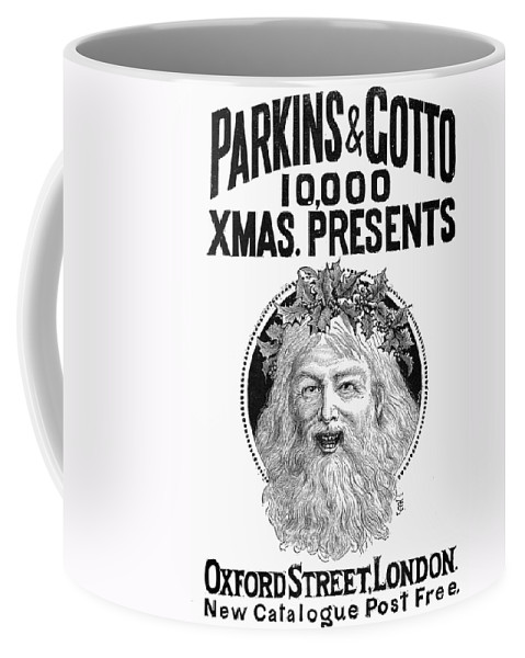 1890 Coffee Mug featuring the photograph Christmas Present Ad, 1890 by Granger