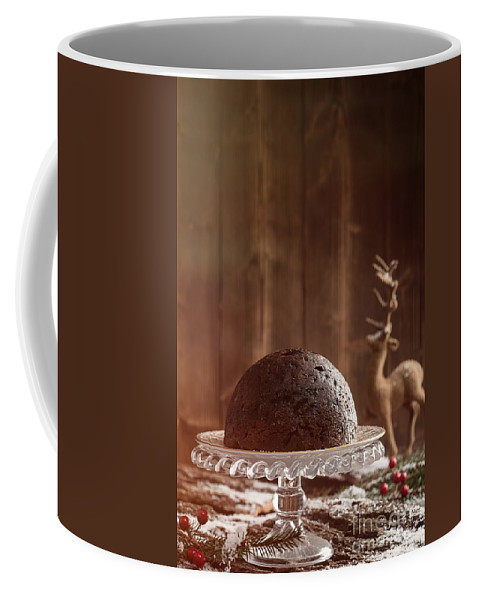 Christmas Coffee Mug featuring the photograph Christmas Pudding by Amanda Elwell